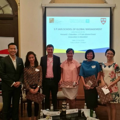 (Left to right) Dr John Fong, CEO & Head of Campus (Singapore) at SP Jain with panellists