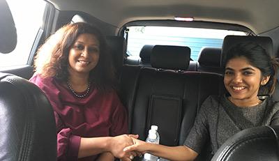 Figure 2 Ketki Sen, Co-founder & Partner at Spinta Global Accelerator and Tanya Ali (Student)