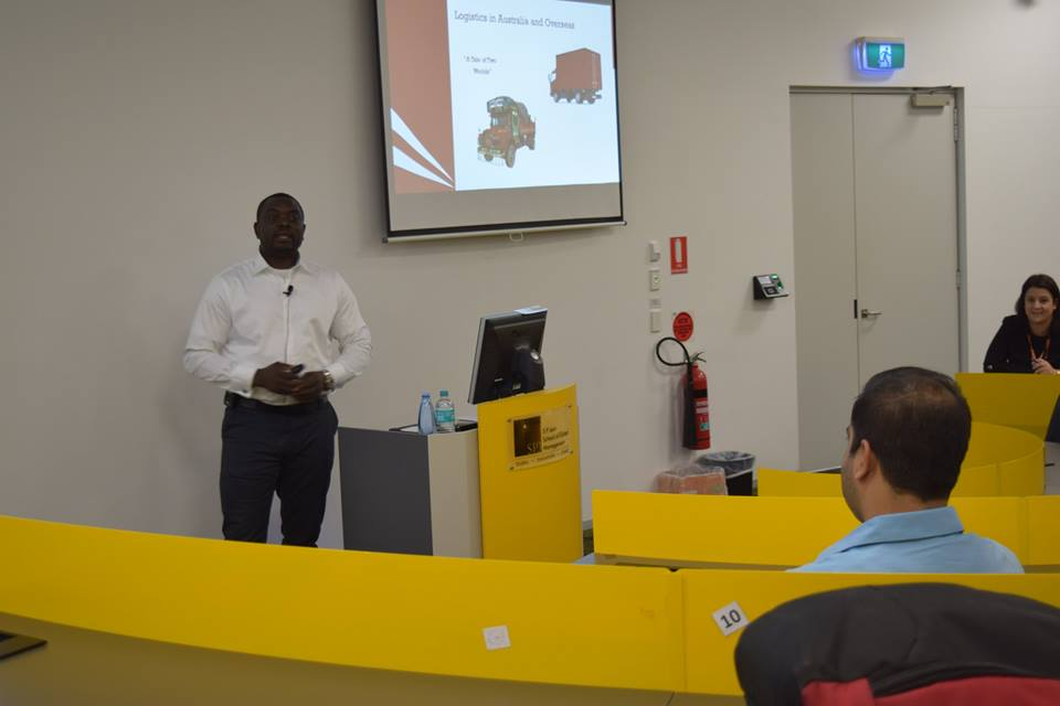 Revolutionising the Global Logistics Industry – PG Students interact with Hubert Igbinoba