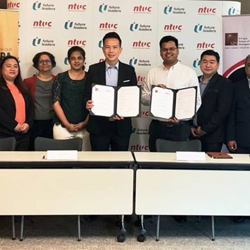 Helping Singapore Stay Competitive - SP Jain Singapore signs an MOU with National Trade Union Congress