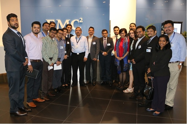Global MBA students visit the EMC Singapore office as a part of their industry visit