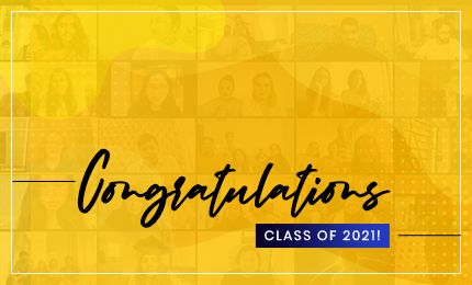 Watch the Virtual Graduation Ceremony of our Undergraduate Class of July 2021