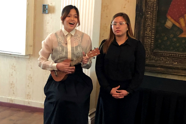 Performance by Filipino BBA students Amara Tan and Kaezha Lhea Marte