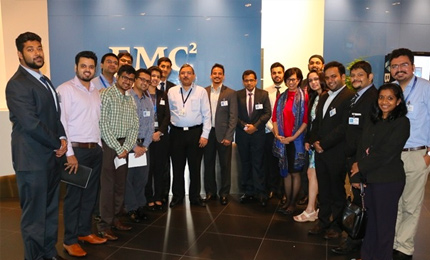 Global MBA students visit the EMC Singapore office<