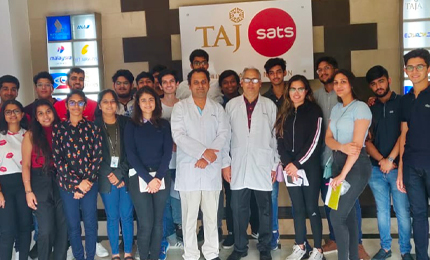 Learning quality management – BBA students visit TajSATS in Mumbai
