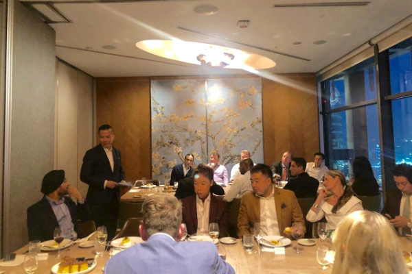 Dr. John Fong, CEO & Head of Campus (Singapore) - SP Jain, driving the conversation on customer experience as he moderates the dinner with other C-suites in the room