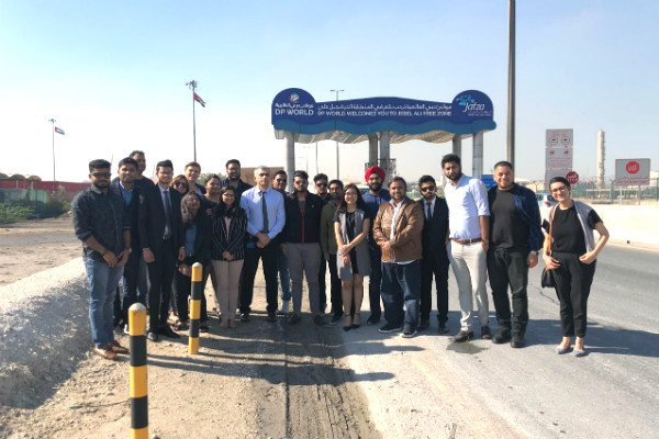 MGB students visit Jebel Ali Port